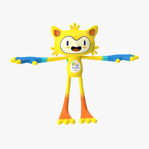 3d model of rigged mascot vinicius