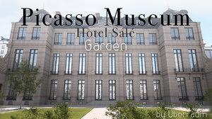 garden picasso museum 3d 3ds