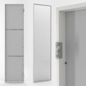 hinged wall mirror 3d max