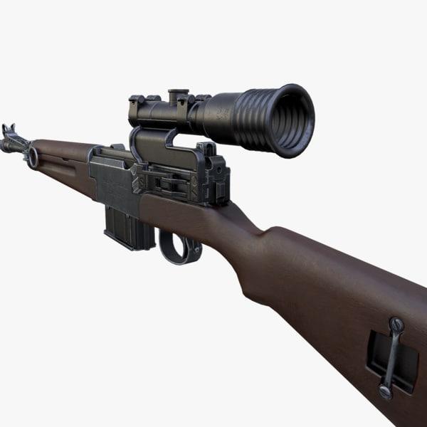 3d obj mas-49 56 rifle