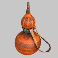 primitive calebas drink 3d obj