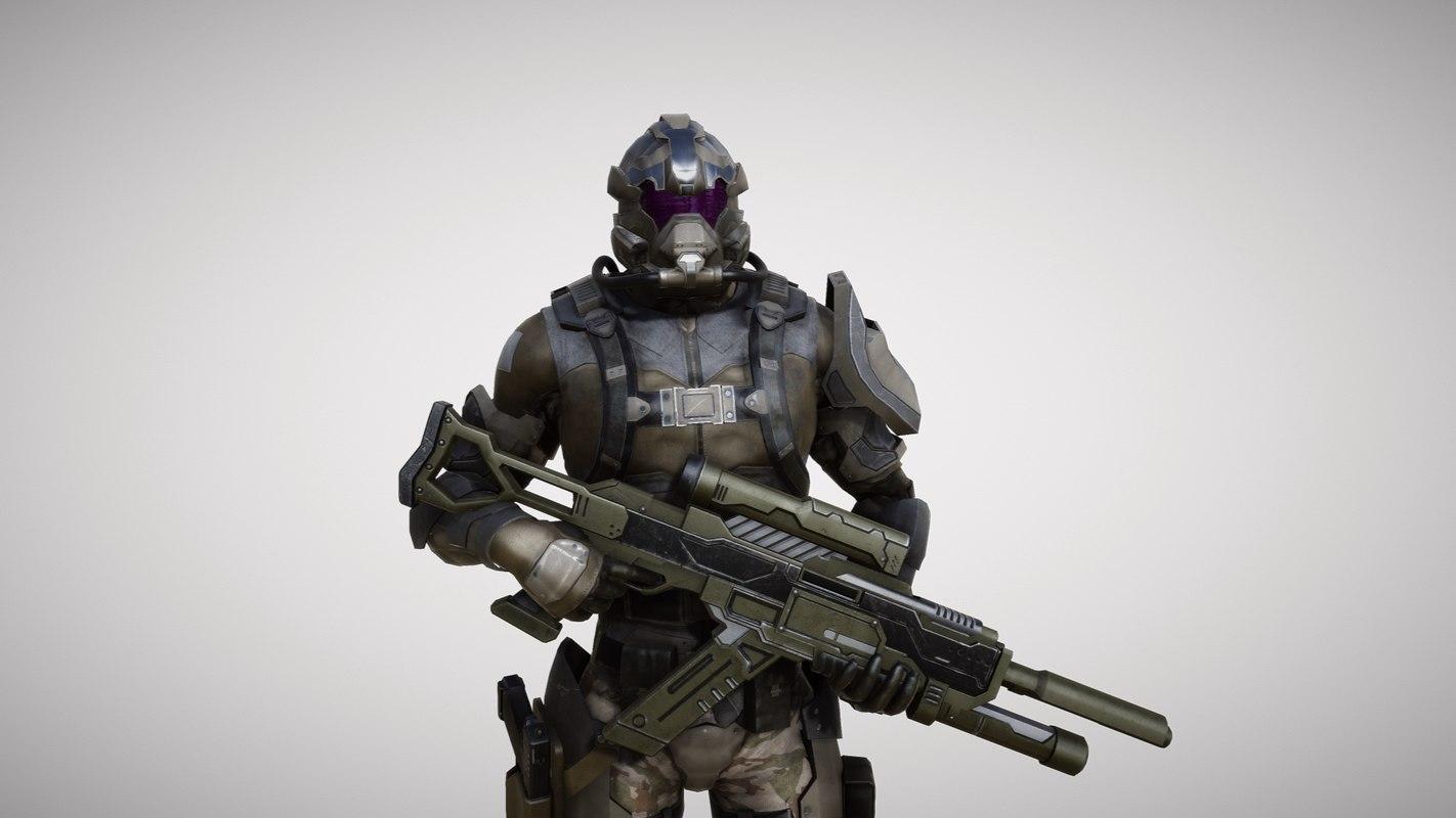 soldier pbr 3d model