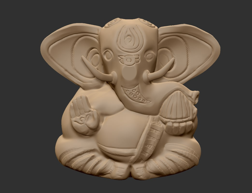 ganesha sculpture 3d model
