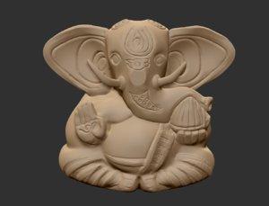 ganesha sculpture 3d model