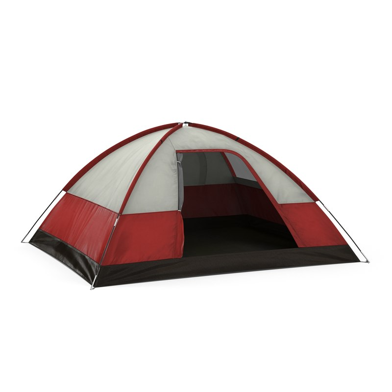 3ds dome tent red