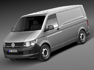 3d model hq volkswagen transporter