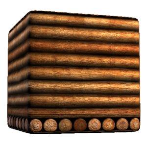 Wood Log Wall and Log Butts