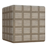 Wood Tile Floor Grid Pattern