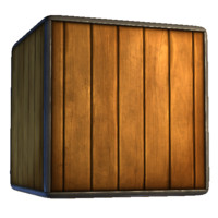 Wooden Crate with Metal Edges