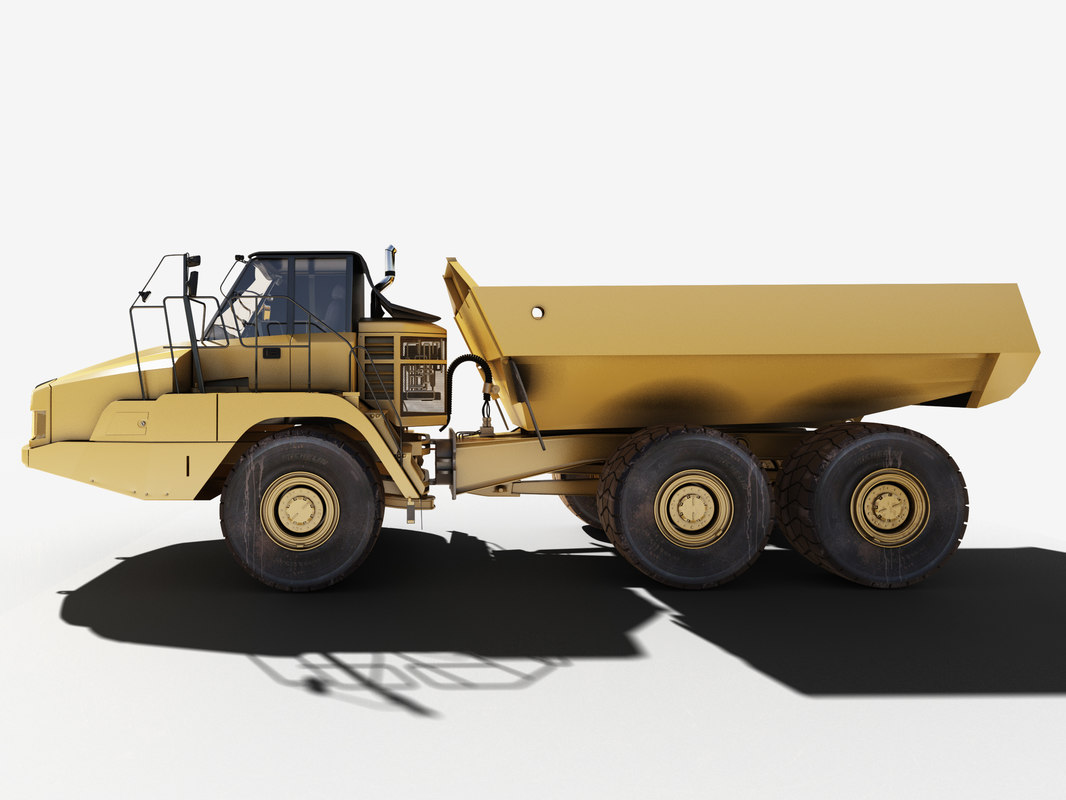 heavy mining truck articulated max