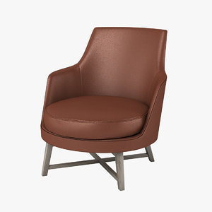 3d flexform guscio chair model