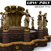 3d model fountain friendship nations