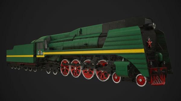 3d 3ds soviet steam locomotive p36