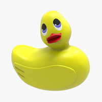 3d yellow duck model