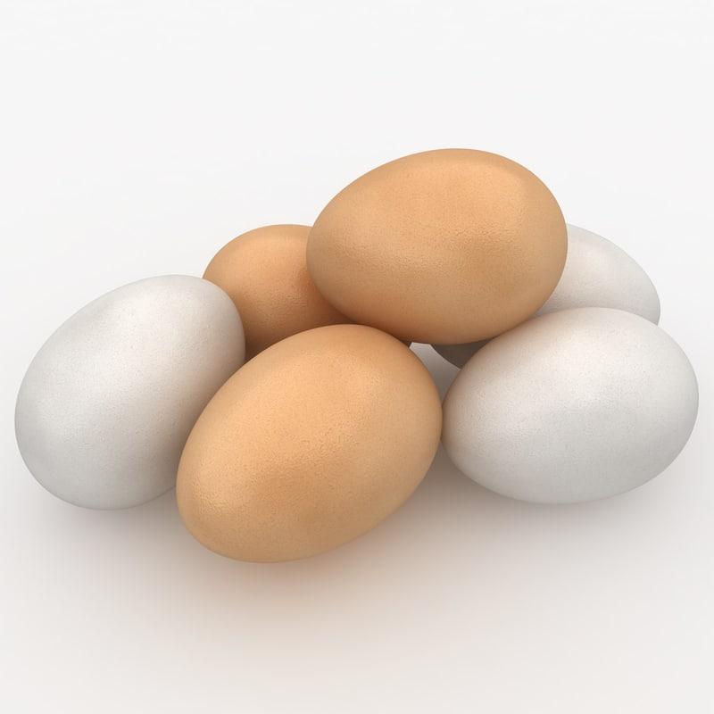 3d realistic eggs model