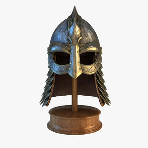 3d fantasy viking helmet model
