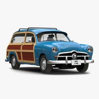 3d generic retro car