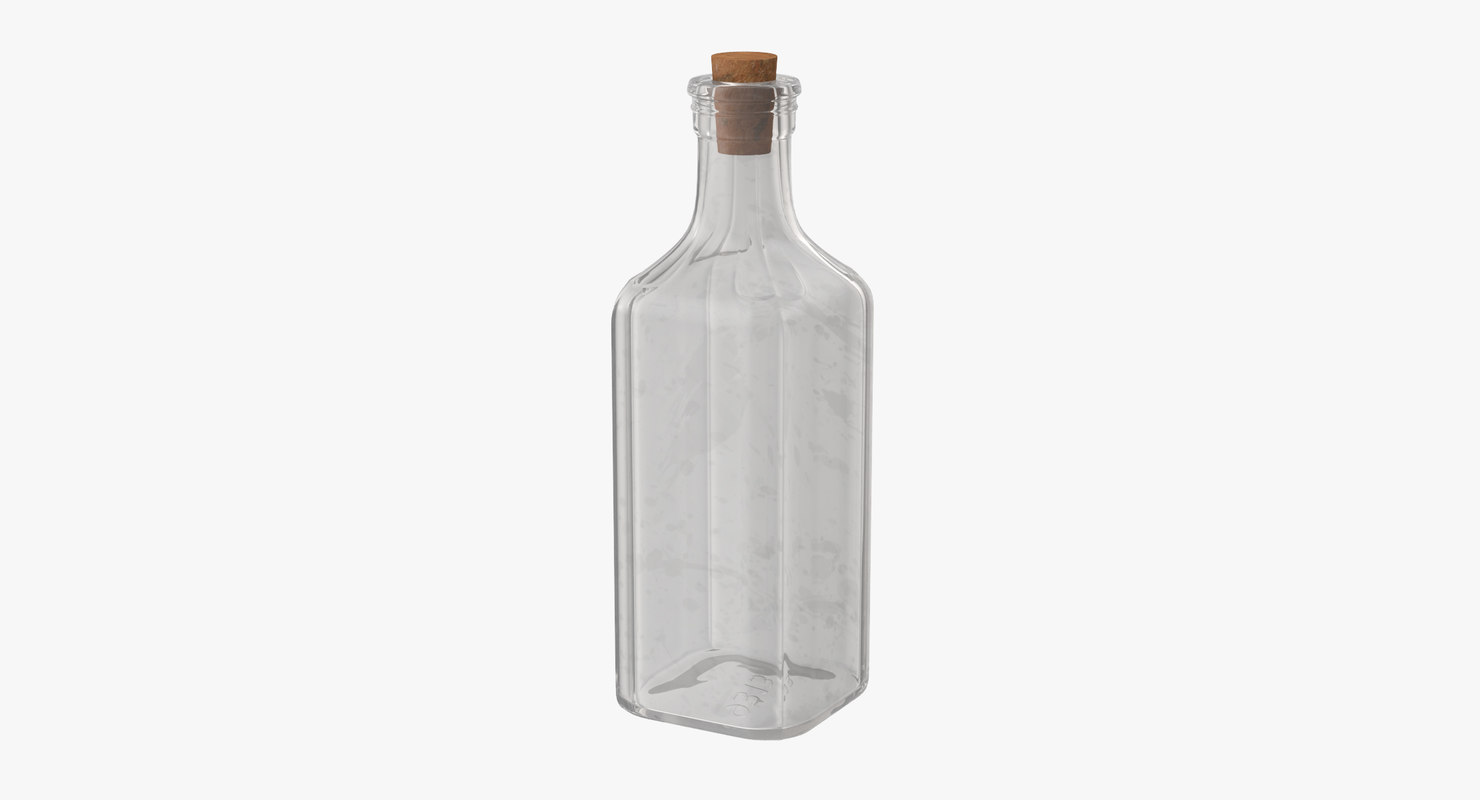 old glass bottle 02 3d max