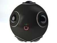 vr 360 camera 3d model