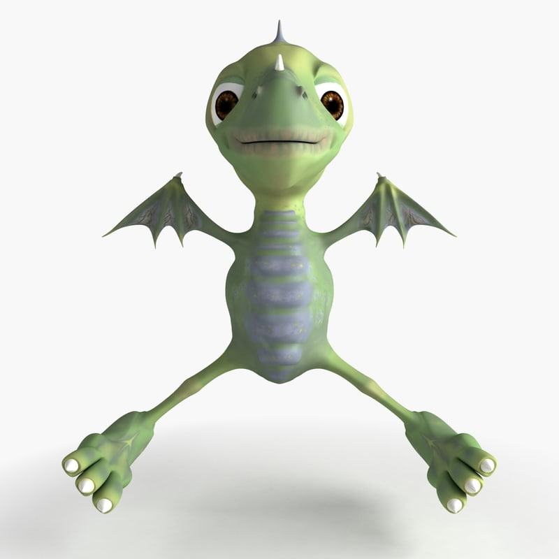 dragon cartoon 3d model