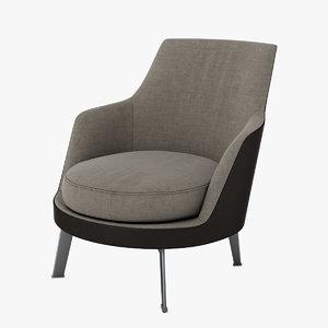 flexform guscioalto soft chair max