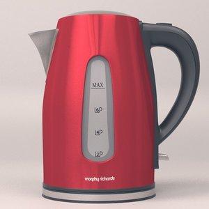 electric teapot morphy richards 3d model