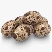 max realistic quail eggs pose