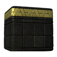 Black Marble Tile with Gold Detail