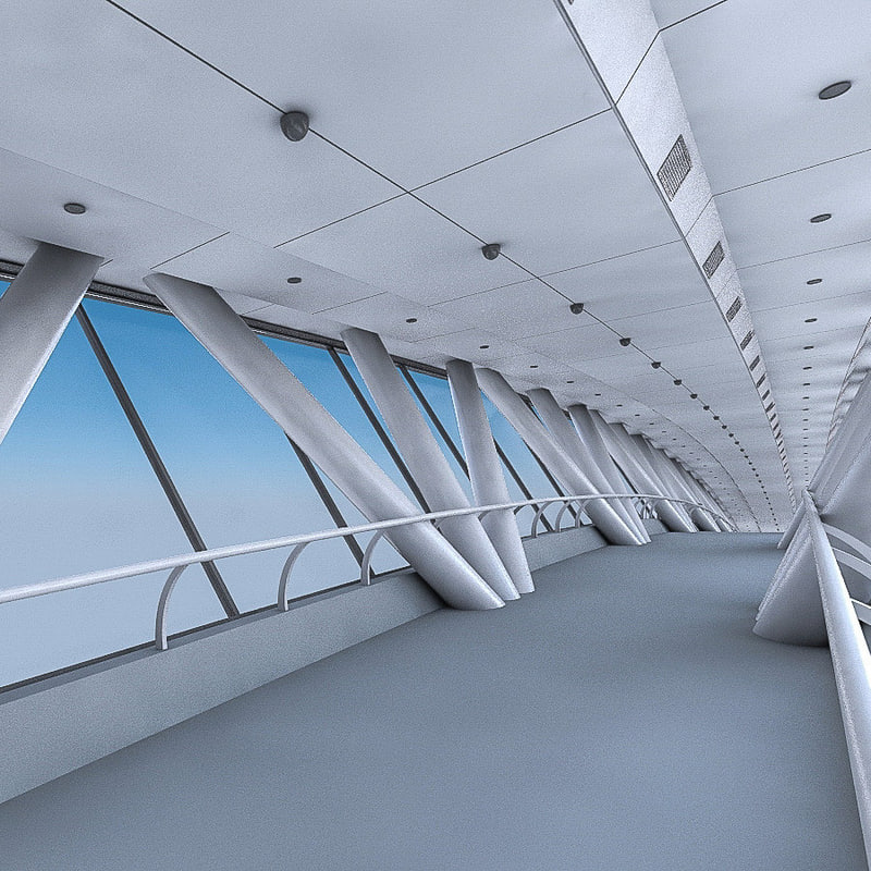 skybridge interior kingdom 3d max