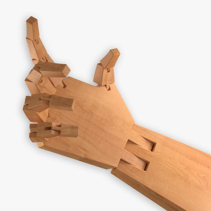 3d arm wooden model