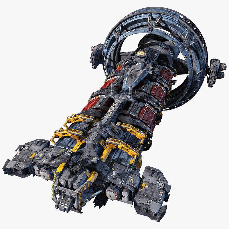 hauler scifi 3d model