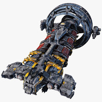 hauler scifi 3d model