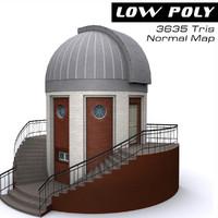observatory building ready fbx
