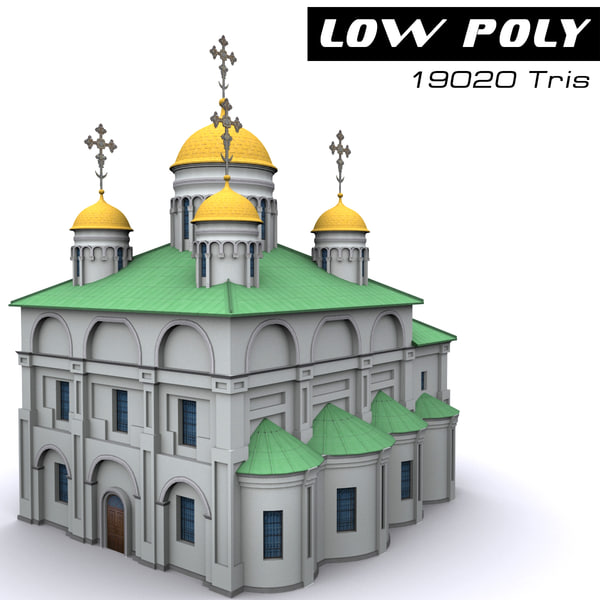 3d obj cathedral ready games