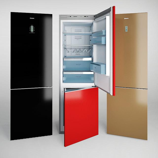 bosch refrigerator freezer 3d obj