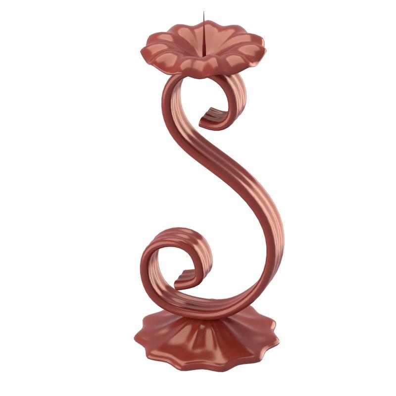 3d flower shaped candleholder model