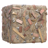 Brick Rubble Construction Debris