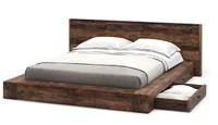 bed rustic 3d model
