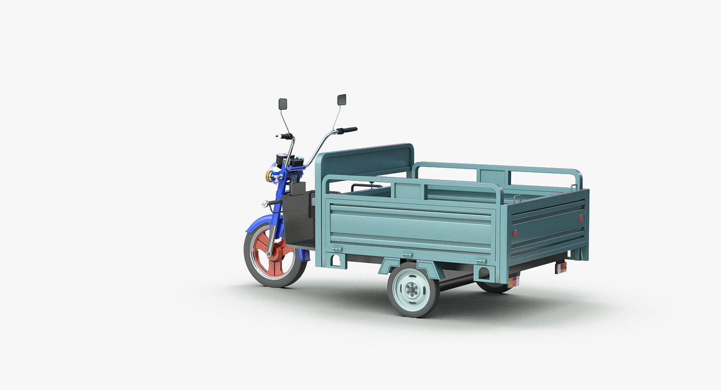 electric utility tricycle 3d model