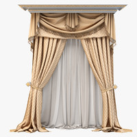curtain draperies 3d max