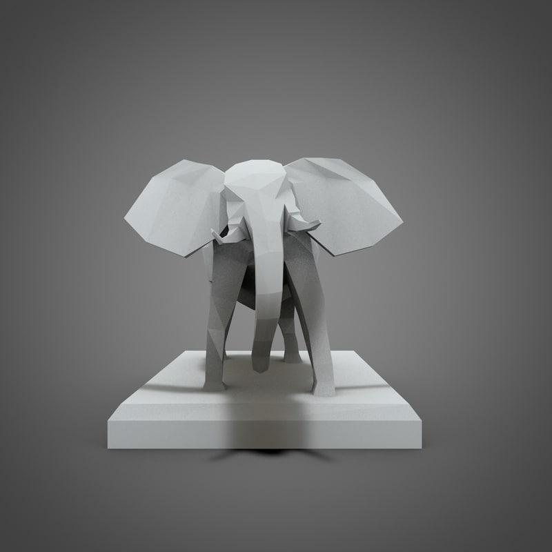 3d model elephant sculpture