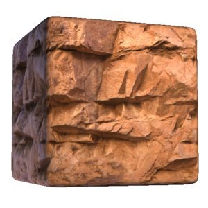 Red Rock wall with Deep Cuts