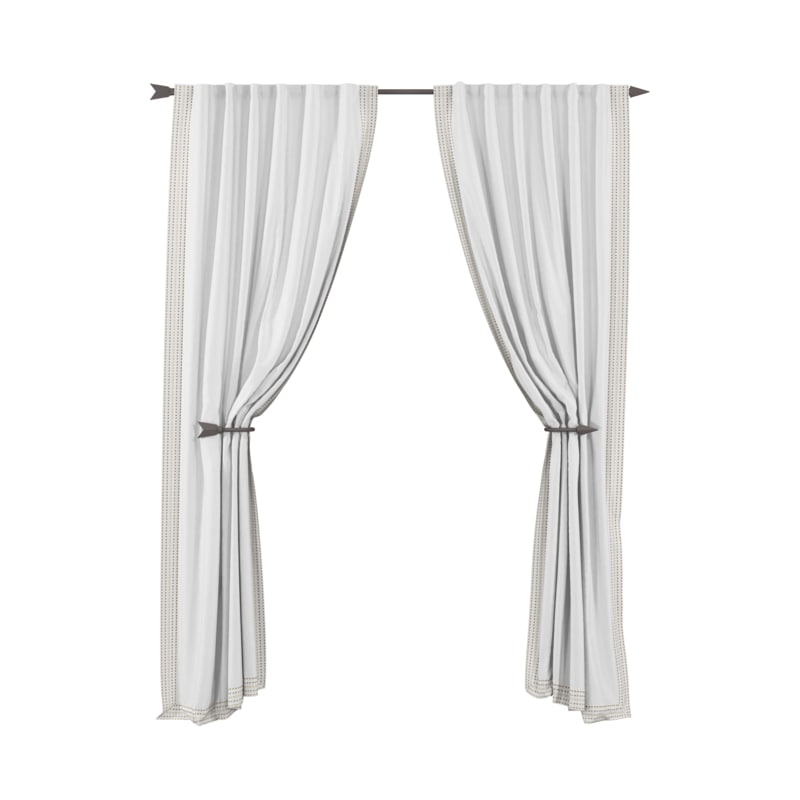 curtains rh studded 3d max