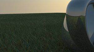 3d grass proxy model