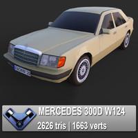3d mercedes w124 300d model