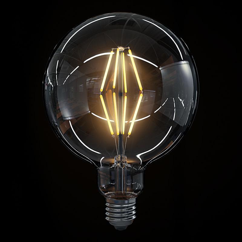led filament bulb lights max