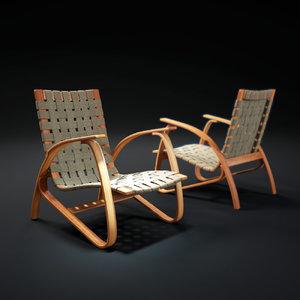 3d model avant-garde-lounge-chair
