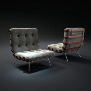 3d model rosewood-sofa