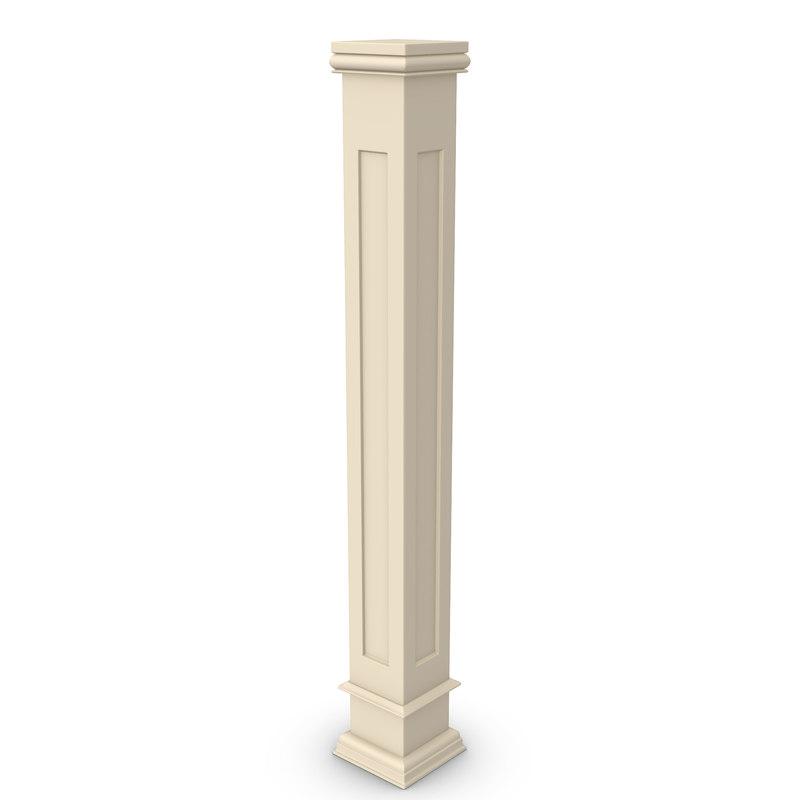 pillar furniture 3d obj