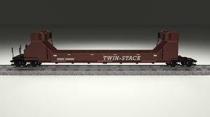 3d model of train car